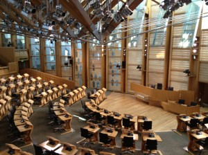 Scottish Parliament - amazing interior